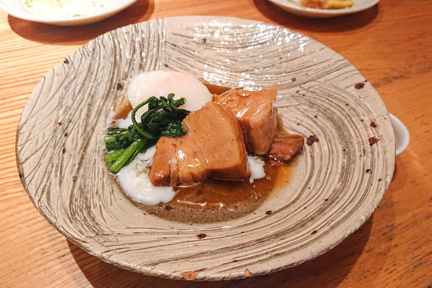 椒房庵の豚の角煮